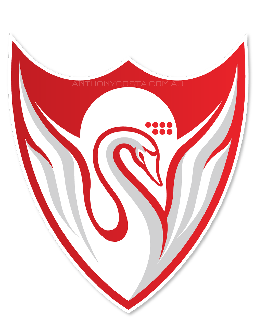 Arsta Swans football logo design