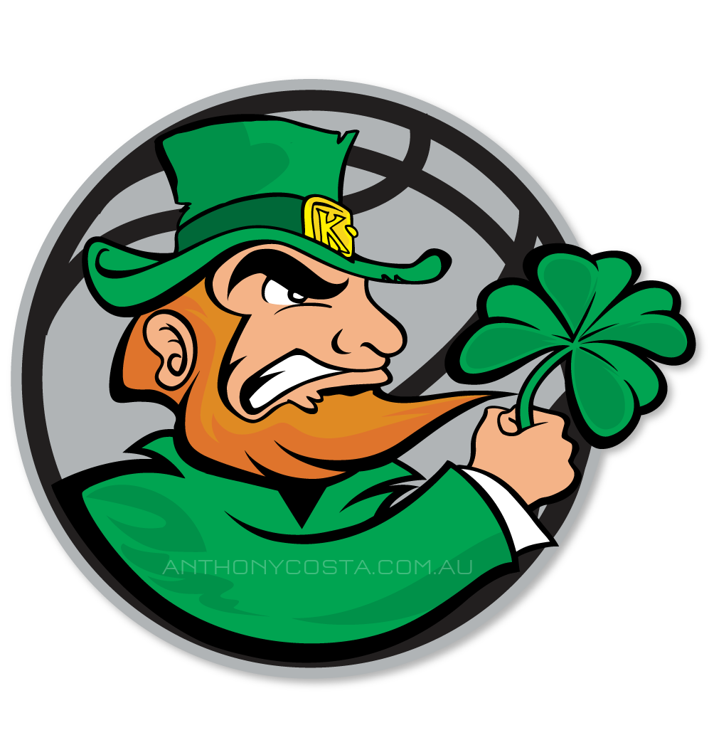 Kellyville Irish basketball logo design
