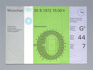 Olympic Opening Ceremony ticket